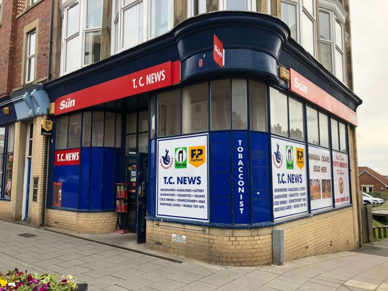 Newsagent in Town Centre North Shields with Low Rent